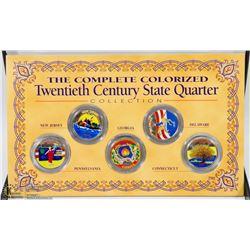 1999-2003 SET OF 5 COLORED STATEHOOD QUARTERS
