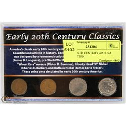 EARLY 20TH CENTURY 4PC USA COLLECTION