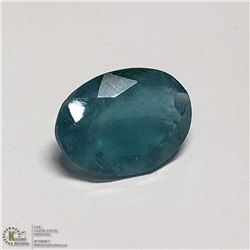 92) GENUINE APATITE, OVAL, APPROX 6 CTS