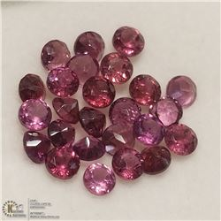 38) GENUINE GARNETS, ROUNDS, APPROX 4 CTS