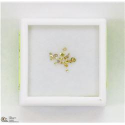 42) GENUINE YELLOW DIAMONDS, ROUND CUT, APPROX