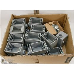 EXTERIOR ELECTRICAL BOXES WITH KNOCKOUT