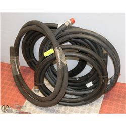 LOT OF 6 RUBBER GAS HOSES - UNKNOWN LENGTH