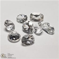 78) 8 COLORLESS TOPAZ, 4 ROUNDS AND 4 OVALS,