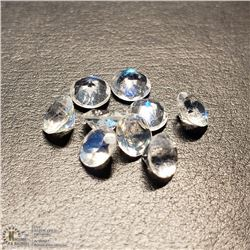 1) GENUINE MOONSTONES, 4MM ROUNDS, APPROX 2 CTS