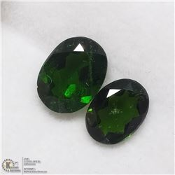 3) 2 CHROME DIOPSIDES, OVALS, APPROX 3 CTS