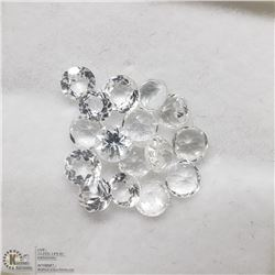4) GENUINE COLORLESS QUARTZ, 3-4MM ROUNDS, APPROX