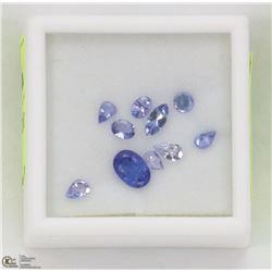 65) GENUINE TANZANITE, ASSORTED SHAPES & SIZES,