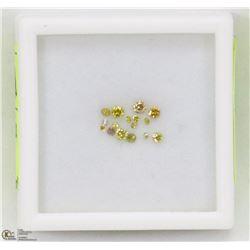 18) GENUINE YELLOW DIAMONDS, ROUND CUT, APPROX