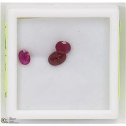 13) NATURAL RUBIES, OVAL, ASST SIZES, APPROX
