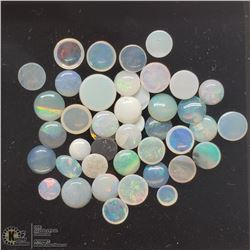 16) GENUINE AUSTRALIAN OPALS, 2.5-5MM ROUND
