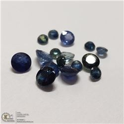 73) GENUINE BLUE SAPPHIRES, 2-4MM ROUNDS, APPROX