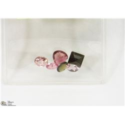 15) GENUINE TOURMALINES, ASSORTED SHAPES, SIZES &