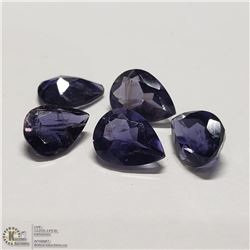 79) GENUINE IOLITES, 6X8MM PEAR, APPROX 4 CTS