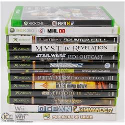 LOT OF ASSORTED XBOX, XBOX360 & WII GAMES