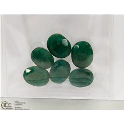#138-NATURAL GREEN EMERALD GEMSTONE 53CT