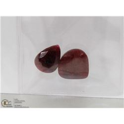 #129-NATURAL RED RUBY GEMSTONE  48.5CT