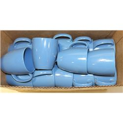 BLUE COFFEE CUPS.