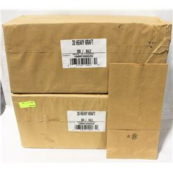 2 BALES OF 20-HEAVY CRAFT BROWN PAPER BAGS