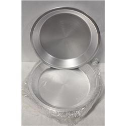 "11"" ALUMINUM PIE PLATES - ONE BOX OF 12 PLATES"