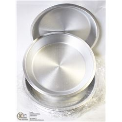 "7"" ALUMINUM PIE PLATES - ONE BOX OF 12 PLATES"