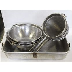 ROASTING PAN WITH COLANDERS/STRAINERS