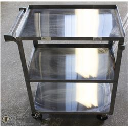 "24"" X 15"" STAINLESS STEEL CART - NEW"