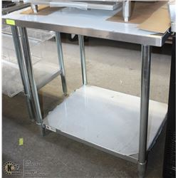 "STAINLESS WORK TABLE 30""X36"" NEW"
