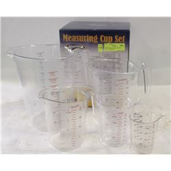 NEW 5PC MEASURING CUP SET - POLYCARBONATE
