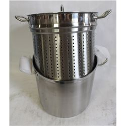 20QT STOCK POT WITH STEAM INSERT