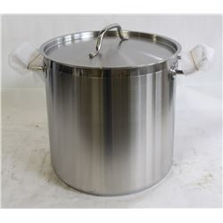 NEW 16QT HD STAINLESS STOCK POT INDUCTION CAPABLE