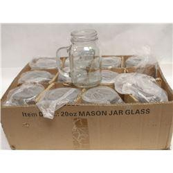 12 NEW 20 OZ COORS BANQUET MASON JAR MUGS