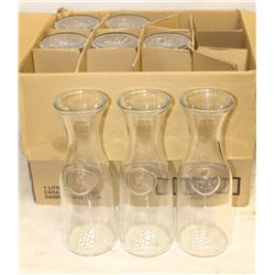 2 BOXES OF WINE DECANTERS 8 X 1 LITRE & 6
