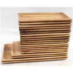 20 BOWRING WOODEN PLATES