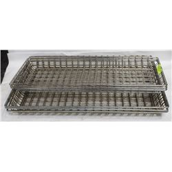 "6 WIRE BASKET RACKS INCL 3-10""X26"" AND 3-6""X26"""