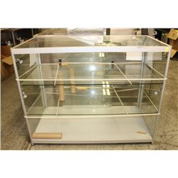 NEW 3-TIER LED LIGHTED GLASS DISPLAY CASE