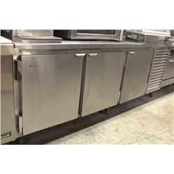 3 DOOR CUSTOM BUILT STAINLESS STEEL REFRIGERATED