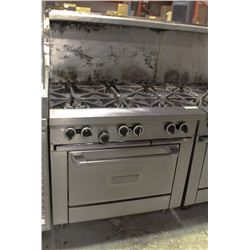 6 BURNER GARLAND STOVE WITH SHELF