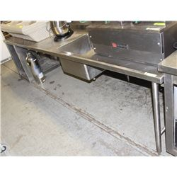 12' STAINLESS STEEL TABLE AND SINK