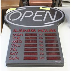 "NEON / LED ""OPEN"" SIGN"