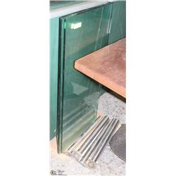 "SNEEZE GUARD 3 SECTIONS PLATE GLASS, EACH 42""X20""H"