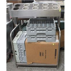 COMMERCIAL STEEL CUTLERY WITH LOWER SHELF