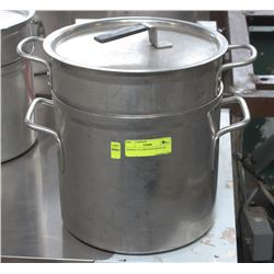 DOUBLE 10 LITRE POTS WITH LID