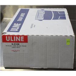 CASE OF ULINE 40-45 G BLACK GARBAGE BAGS