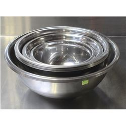 COMPLETE SET S/S MIXING BOWLS
