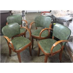 SET OF 4 GREEN CHAIRS