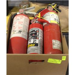 LOT OF 3 SMALL CHARGED EXTINGUISHERS IN BOXES