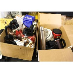 LOT OF GLASS BREWING COFFEE POTS AND PKG COFFEE