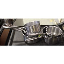 GROUP OF 5 THERMALLOY VARIOUS SIZED SAUCE PANS