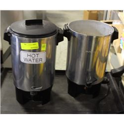 GROUP OF TWO 120 VOLT HOT WATER KETTLES-ONE
